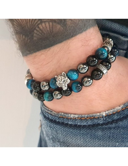 Bracelet Johnny Halliday loup