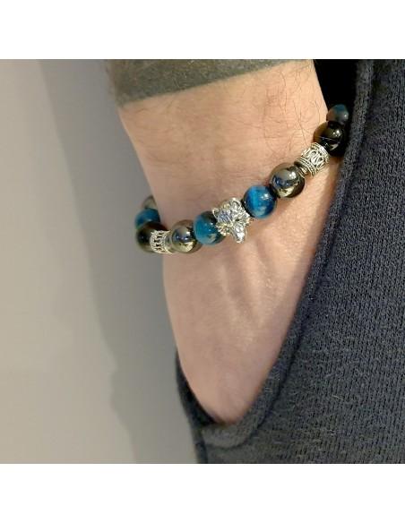 Bracelet Johnny Halliday loup