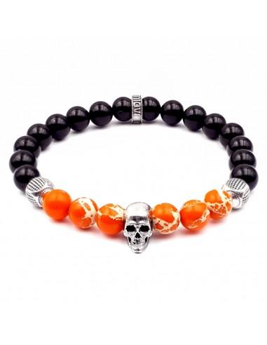 bracelet régalite et onyx noir et argent