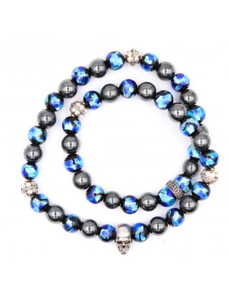 Bracelet en perles de verres phosphorescentes fluorescent