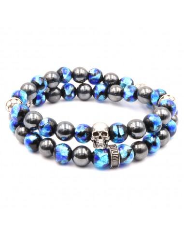 Bracelet en perles de verres phosphorescentes
