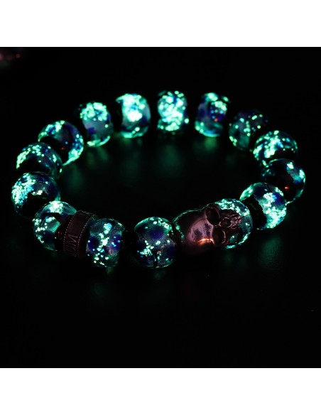 Bracelet en perles de verres king earth